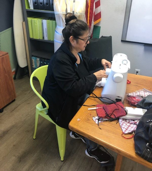 Little House By The Park makes masks while benefiting unemployed