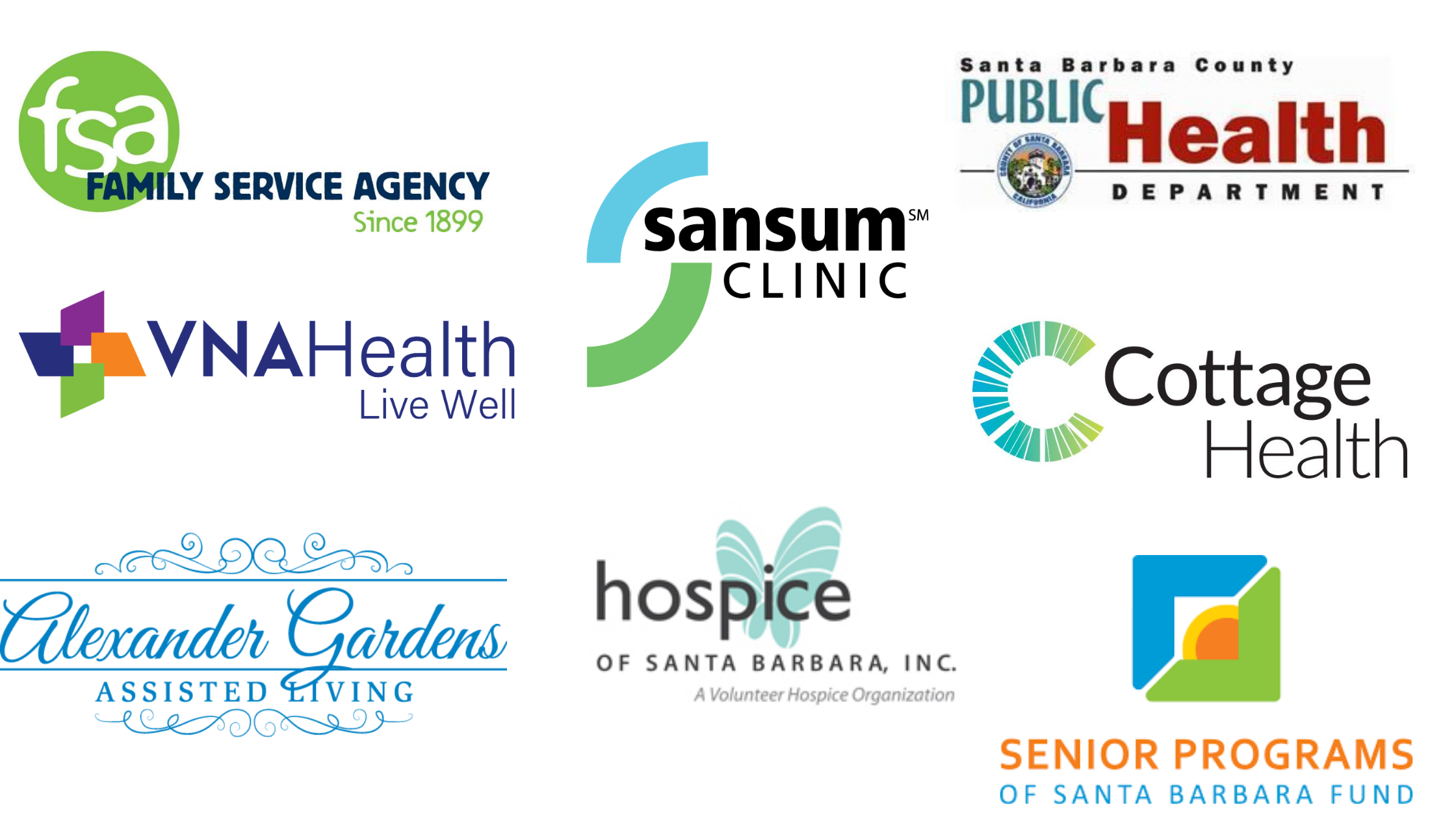 Planning partners for the 2020 Senior Expo flu clinic include Alexander Gardens Assisted Living, Cottage Health, Family Service Agency, Hospice of Santa Barbara, Sansum Clinic, Santa Barbara County Public Health Department, Senior Programs of Santa Barbara Fund, and VNA Health.